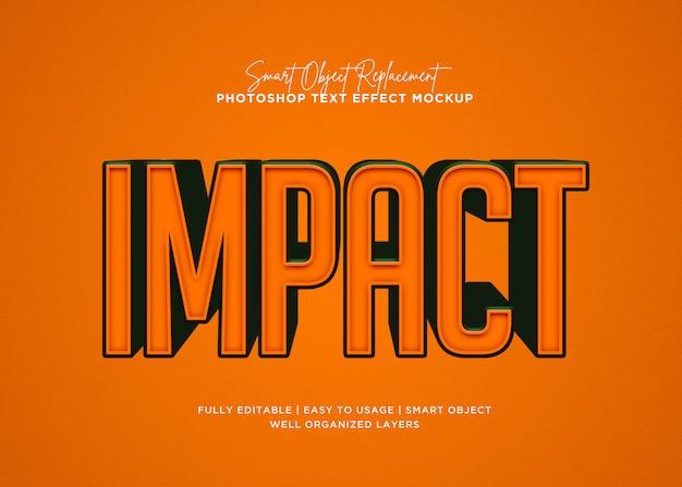 Efeito de texto de impacto de estilo 3d