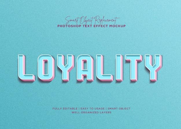 Efeito de texto de lealdade de estilo 3d