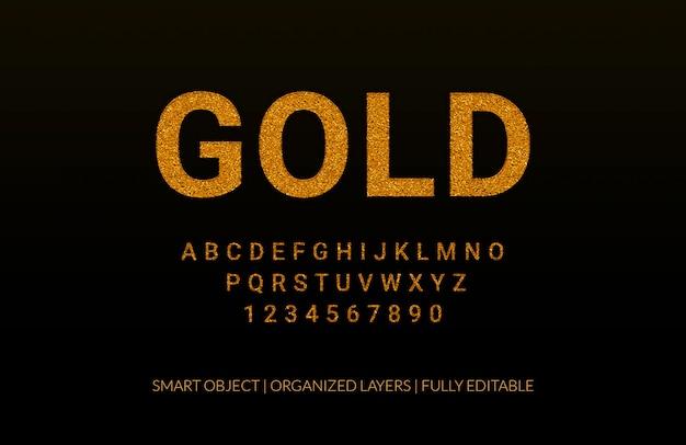 Efeito de texto de luxo de ouro