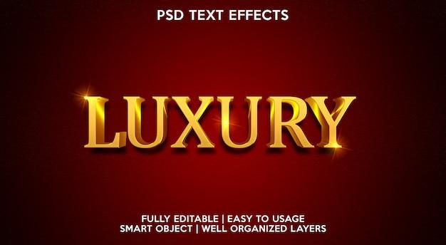 Efeito de texto de luxo moderno