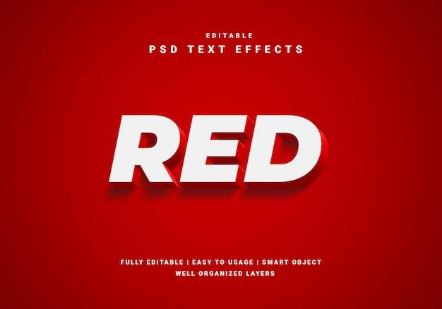 Efeito de texto de luxo vermelho