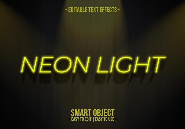 Efeito de texto de luz de neon