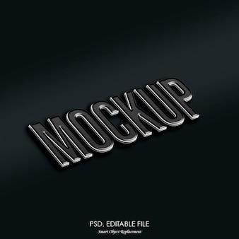 Efeito de texto de maquete de logotipo