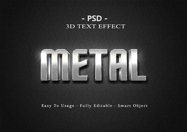 Efeito de texto de metal 3d