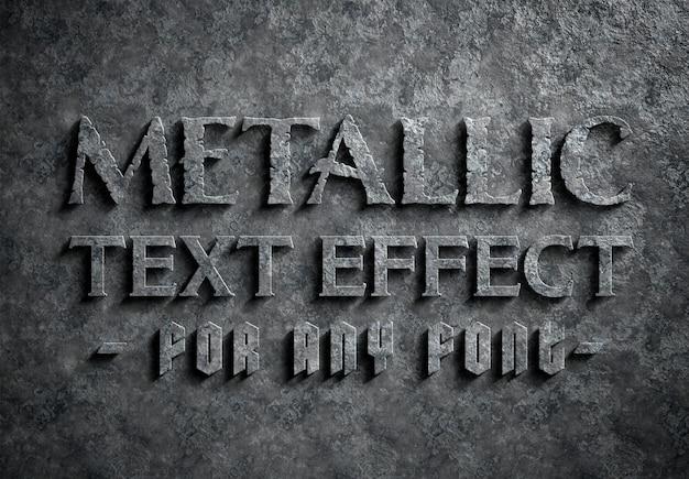 Efeito de texto de metal corroído
