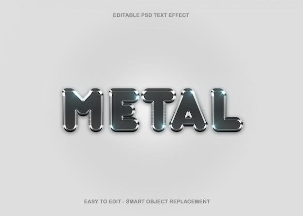 Efeito de texto de metal cromado