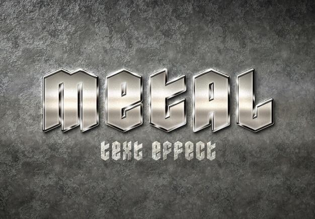 Efeito de texto de metal