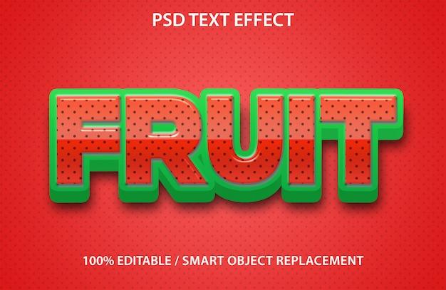 Efeito de texto de morango