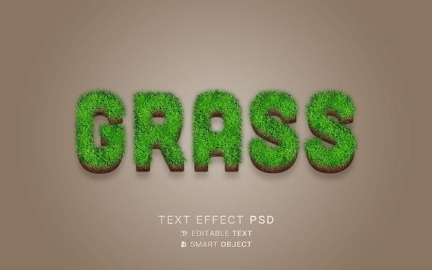 Efeito de texto de natureza criativa