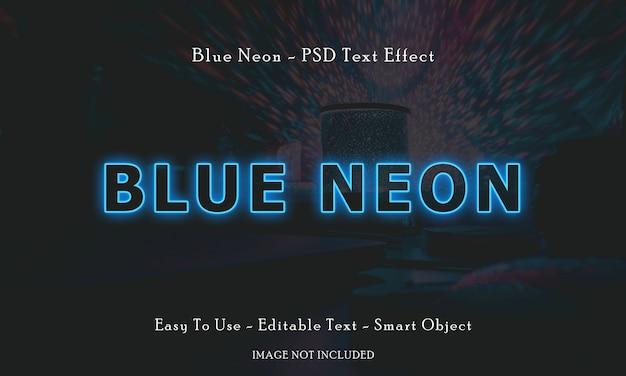 Efeito de texto de néon azul