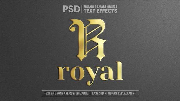 Efeito de texto de objeto inteligente editável em 3d