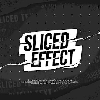 Efeito de texto de padrão de papel rasgado fatiado