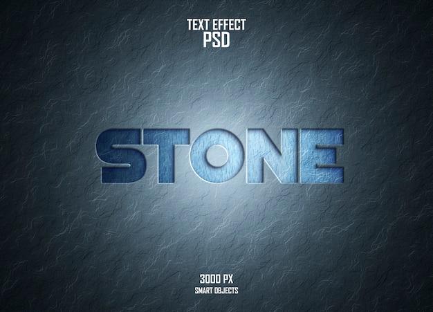 Efeito de texto de parede de pedra
