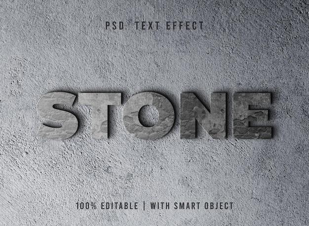 Efeito de texto de pedra editável
