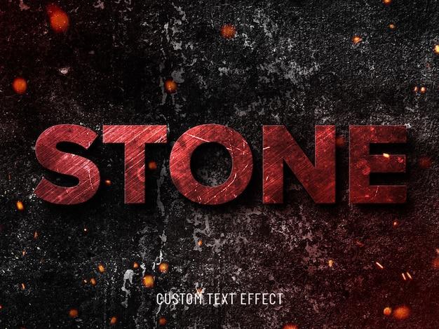 Efeito de texto de pedra grunge