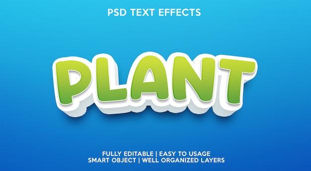 Efeito de texto de planta