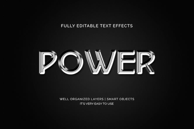 efeito de texto de poder 3d