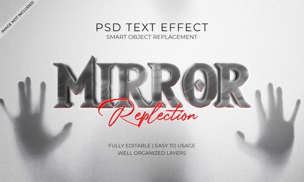 Efeito de texto de repleção de espelho
