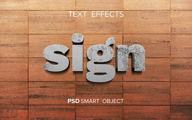 Efeito de texto de sinal abstrato