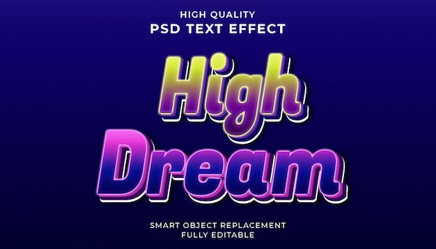 Efeito de texto de sonho alto