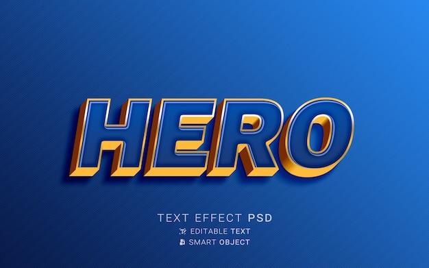 Efeito de texto de super-herói criativo