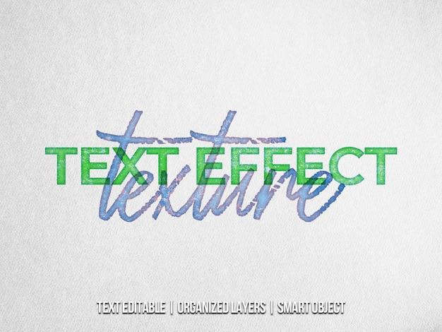 Efeito de texto de textura