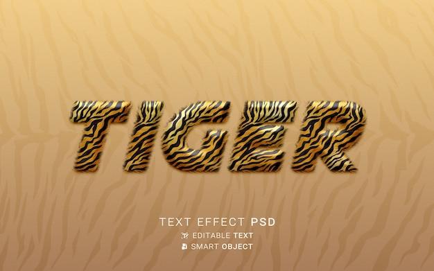 Efeito de texto de tigre criativo