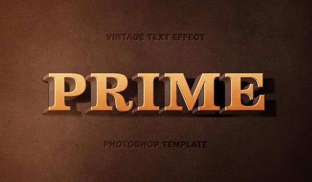 Efeito de texto de título de filme vintage