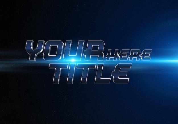 Efeito de texto de trailer de filme azul