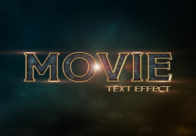 Efeito de texto de trailer de filme