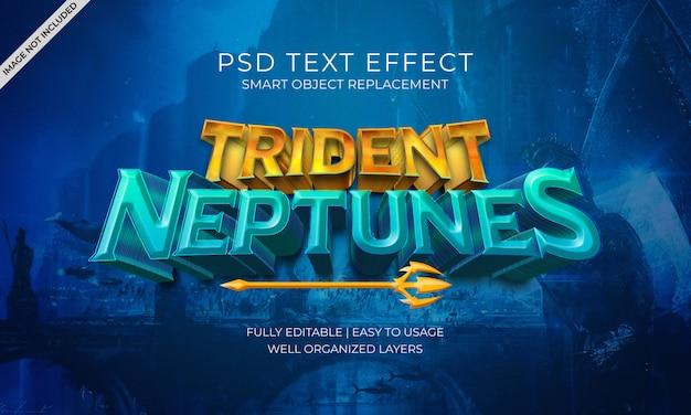 Efeito de texto de trident neptunes