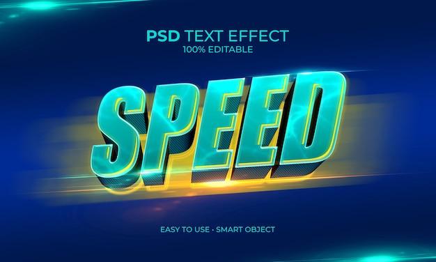 Efeito de texto de velocidade elétrica