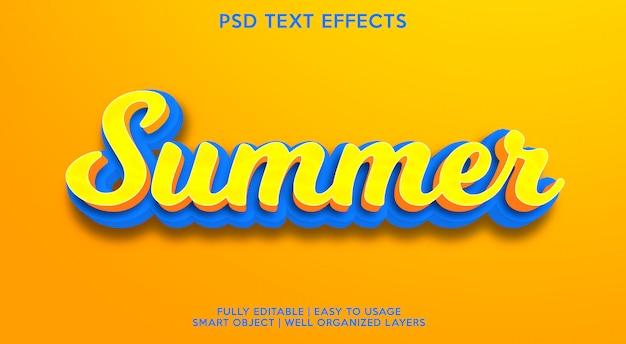 Efeito de texto de verão