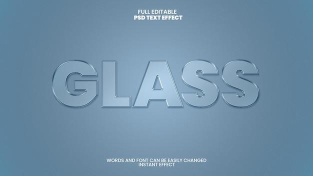 Efeito de texto de vidro