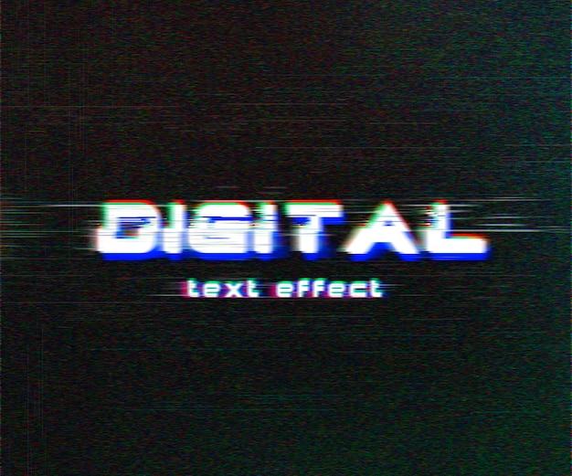 Efeito de texto digital glitch