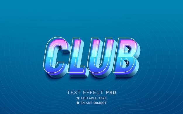 Efeito de texto do clube neon