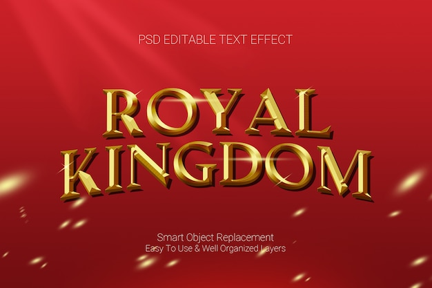 Efeito de texto do reino real