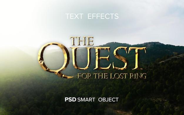 Efeito de texto do título do filme