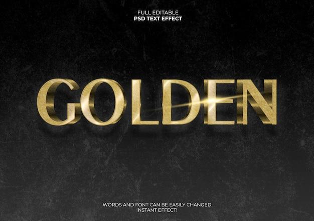 Efeito de texto dourado 3d
