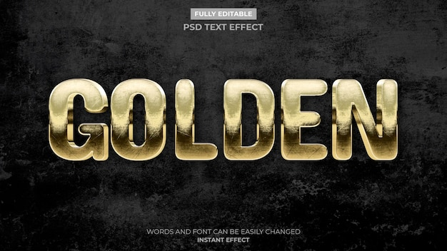 Efeito de texto dourado antigo