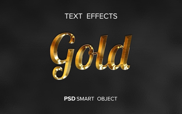 Efeito de texto dourado criativo