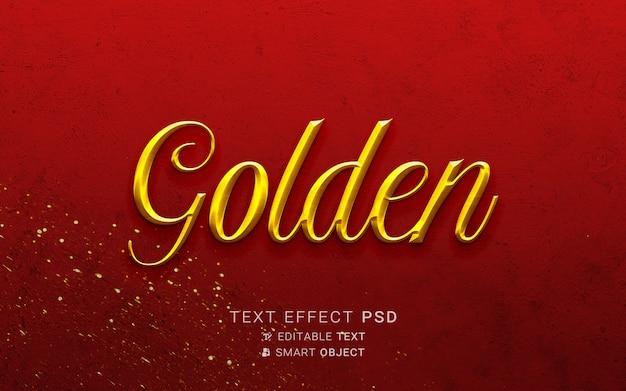 Efeito de texto dourado luxuoso