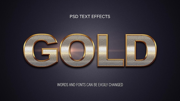 Efeito de texto dourado