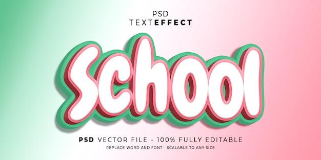 Efeito de texto e fonte da escola
