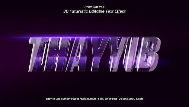 Efeito de texto editável 3d thayib