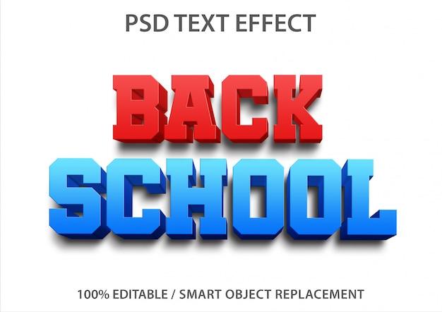 Efeito de texto editável back school