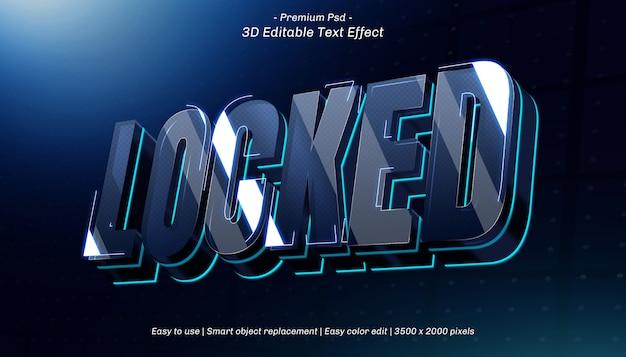 Efeito de texto editável bloqueado em 3d