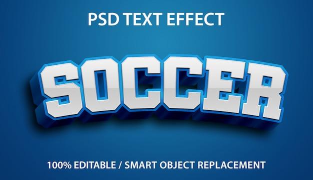 Efeito de texto editável blue soccer