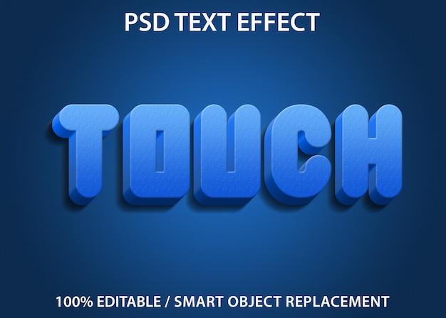 Efeito de texto editável blue touch premium