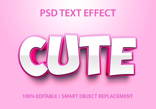 Efeito de texto editável bonito